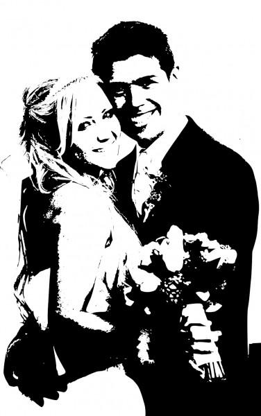 Wandtattoo Hochzeit