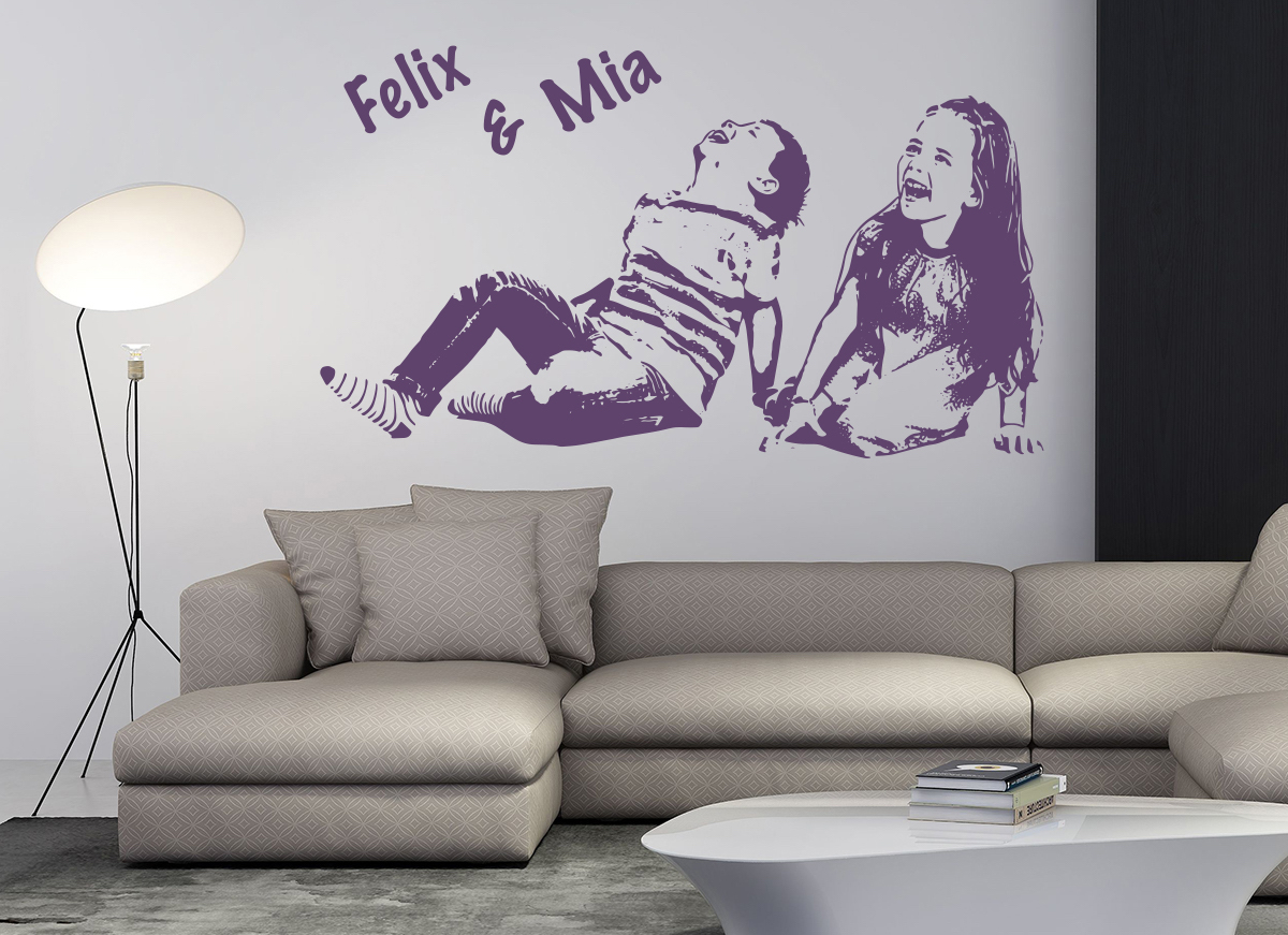 portraits wandtattoos vom eigenen foto. Black Bedroom Furniture Sets. Home Design Ideas